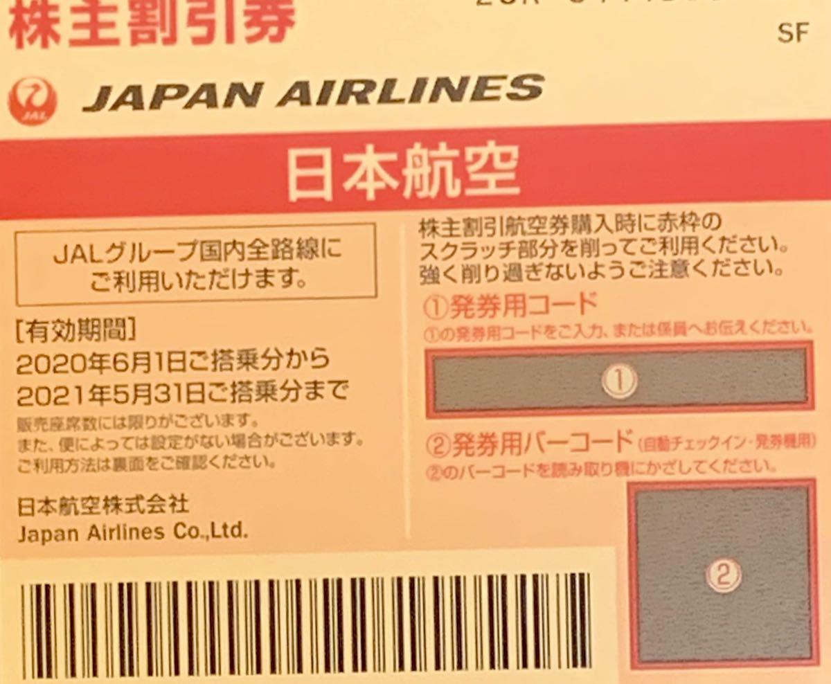 【即決★コード通知】JAL 日本航空★株主優待券 2枚セット★有効期限2021年11月30日に延長_画像1