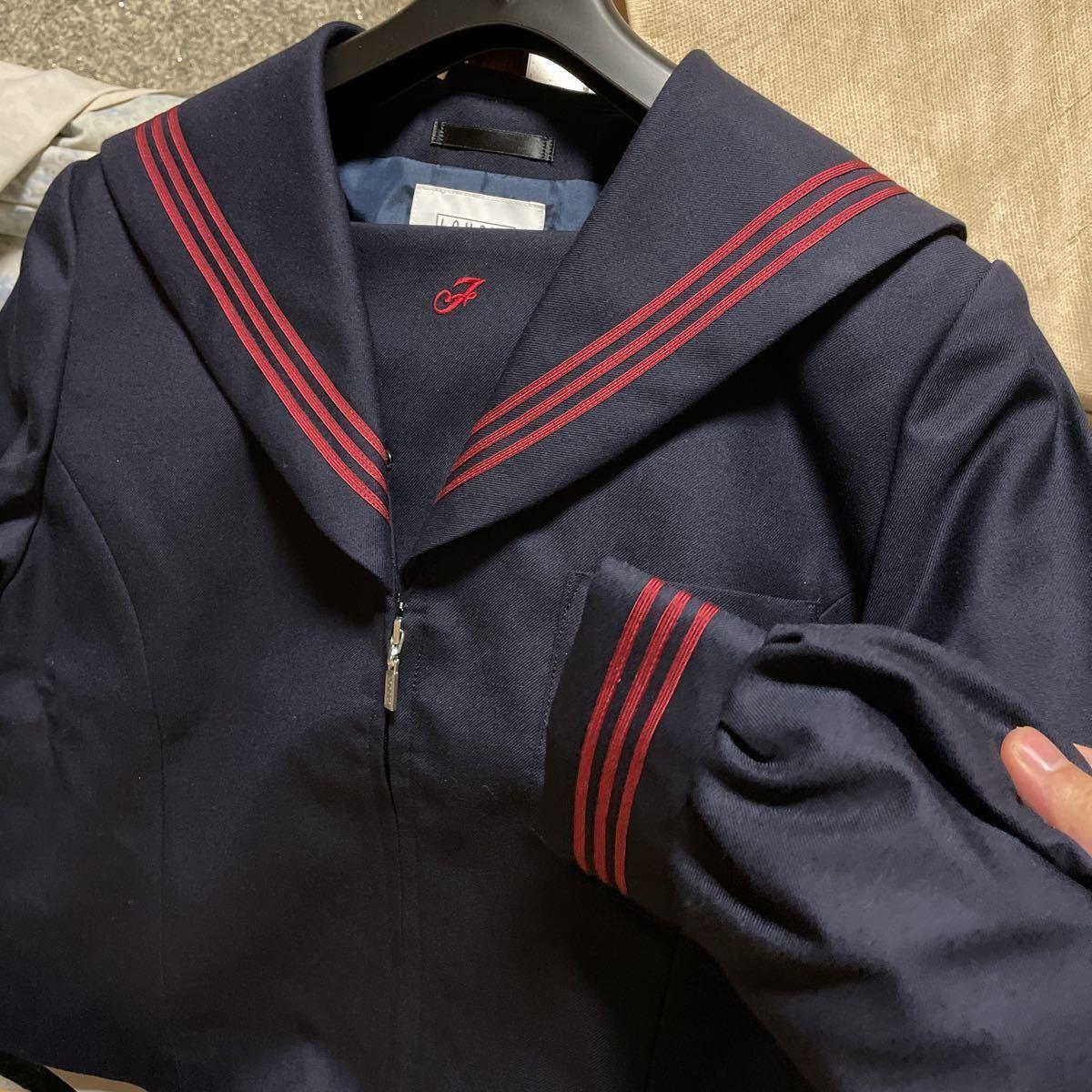 【新品未使用】学生服 LOWRYS FARM セーラー服 正規品 上着 冬服 制服 中学校 高校 コスプレ 165Bサイズ 赤いセーラー服女子制服_画像1