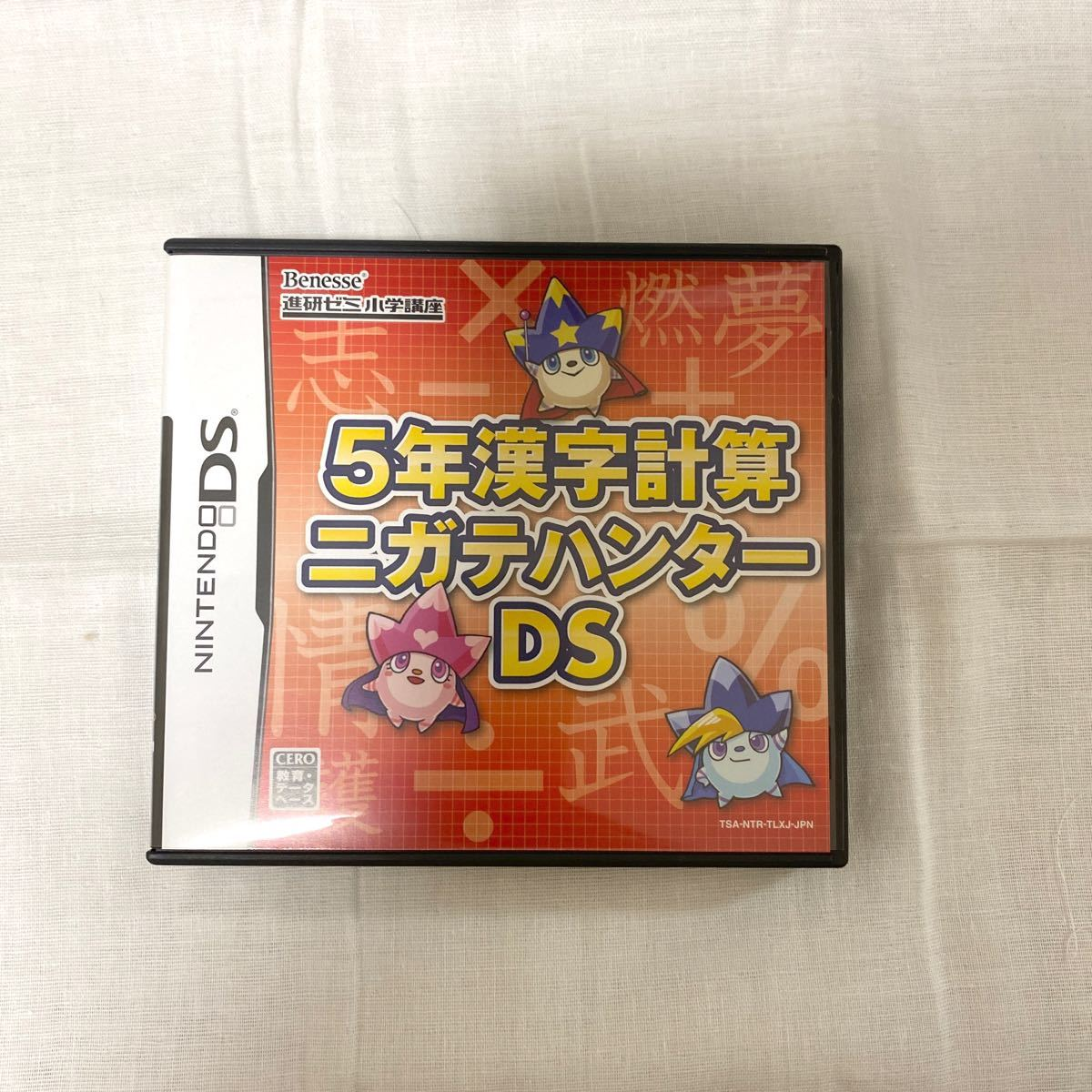 Nintendo DS ソフト 5年漢字計算ニガテハンター DS