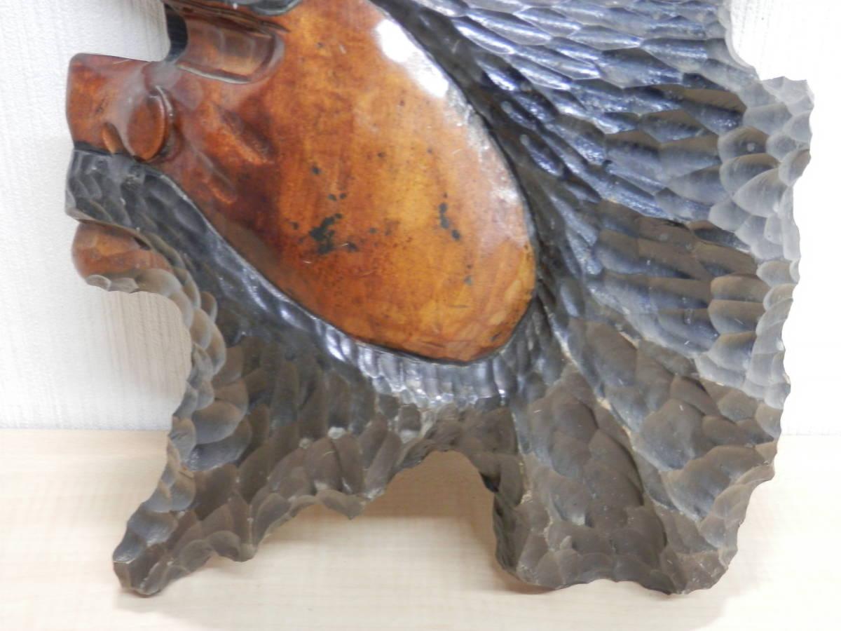 北海道民芸品 アイヌ アイヌ民族 木彫り 壁掛け オブジェ 民芸品 工芸品 _画像6