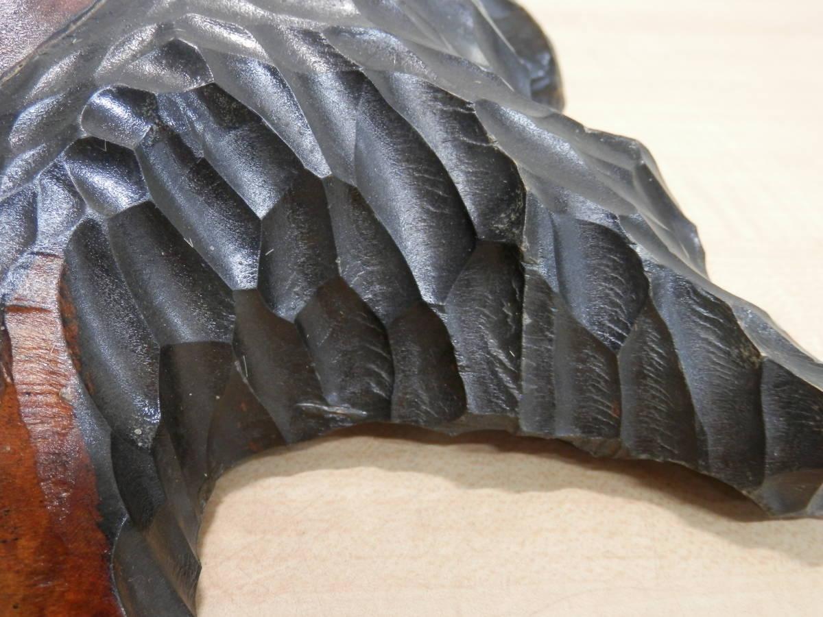 北海道民芸品 アイヌ アイヌ民族 木彫り 壁掛け オブジェ 民芸品 工芸品 _画像9