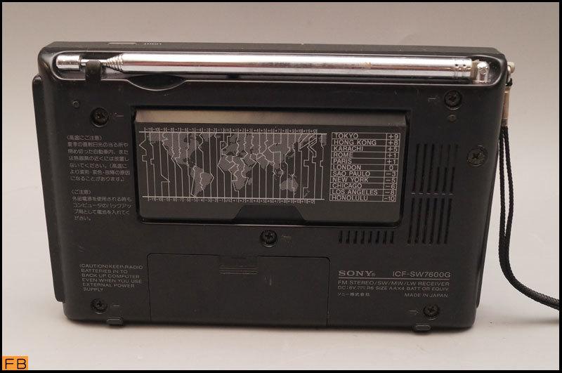 税込◆SONY◆ラジオ ICF-SW7600G 通電確認済 FMステレオ/LW/MW/SW/PLLシンセサイザーレシーバー ソニー -B1-6103_画像2