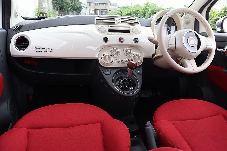 【 限定車 / スーパーポップ3 】 2014y FIAT 500 1.2 専用装備 内外装美車_ホワイト×レッドインテリア