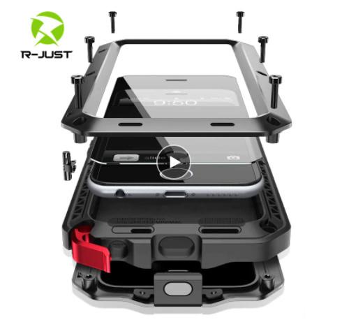 送料無料 iPhone12 mini 11 Pro MAX ★超爆売商品★ 耐衝撃 カバー 頑丈 強化ガラス メタル ア W2387_画像1