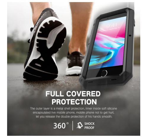 送料無料 iPhone12 mini 11 Pro MAX ★超爆売商品★ 耐衝撃 カバー 頑丈 強化ガラス メタル ア W2387_画像3