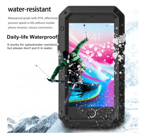 送料無料 iPhone12 mini 11 Pro MAX ★超爆売商品★ 耐衝撃 カバー 頑丈 強化ガラス メタル ア W2387_画像5