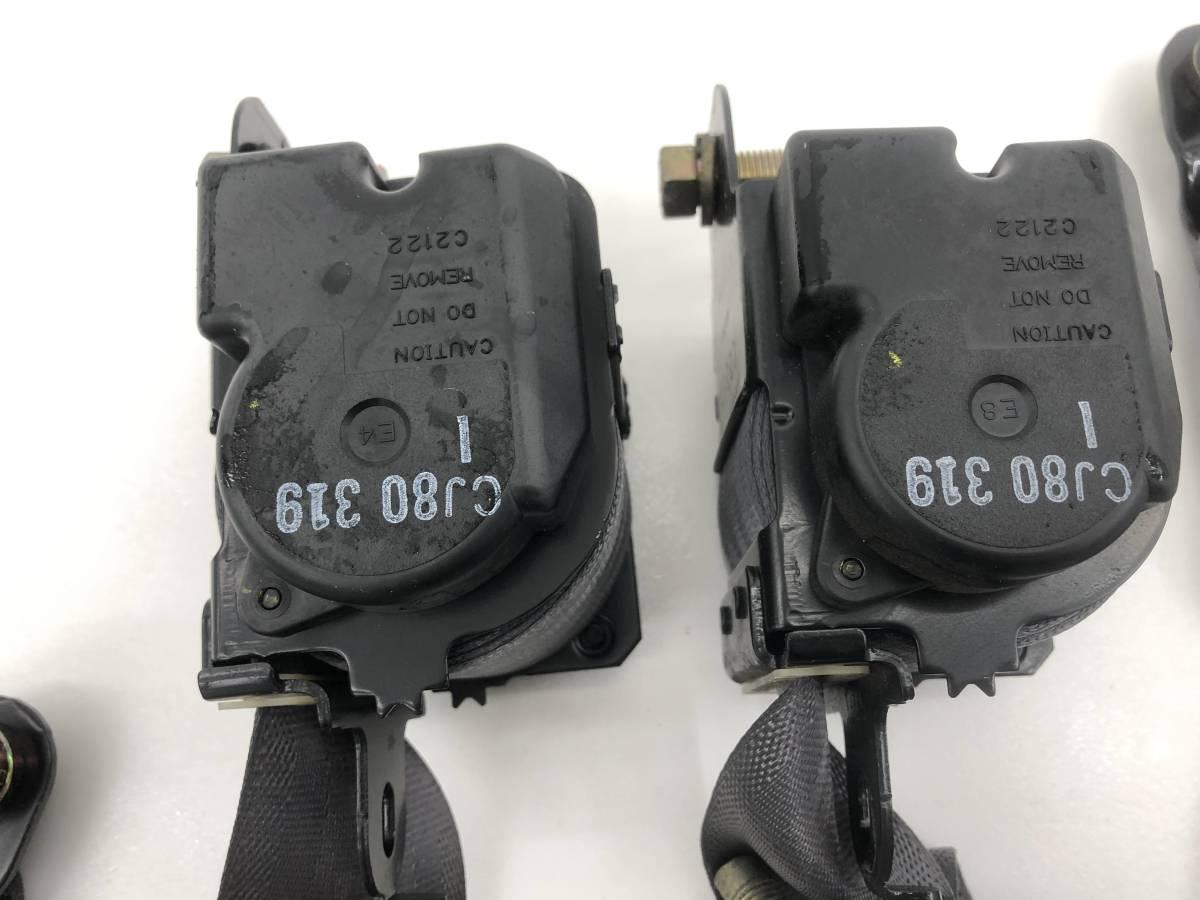 _b54379 ホンダ トゥデイ ハミングX V-JW3 シートベルト キャッチ 受け バックル セット リア リヤ 左右 R/LH R/RH C JW2 JA2 JA3_画像5