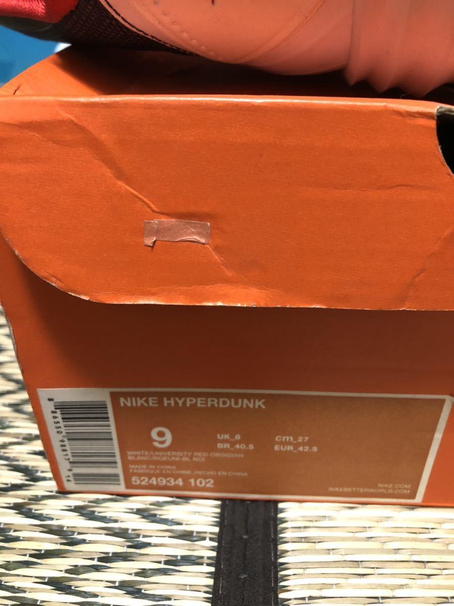 Nike Lunar Hyperdunk2012(ハイパーダンク)USAカラー US9(27cm)美品_画像5