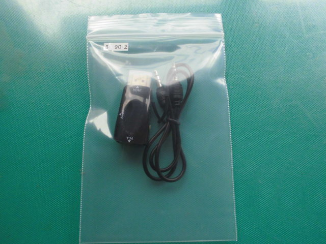MHDIーVGA変換アダプタ 1080対応 音声ケーブル付 HDMIタイプA~ミニd-sub15pメス変換器 ソフト不要