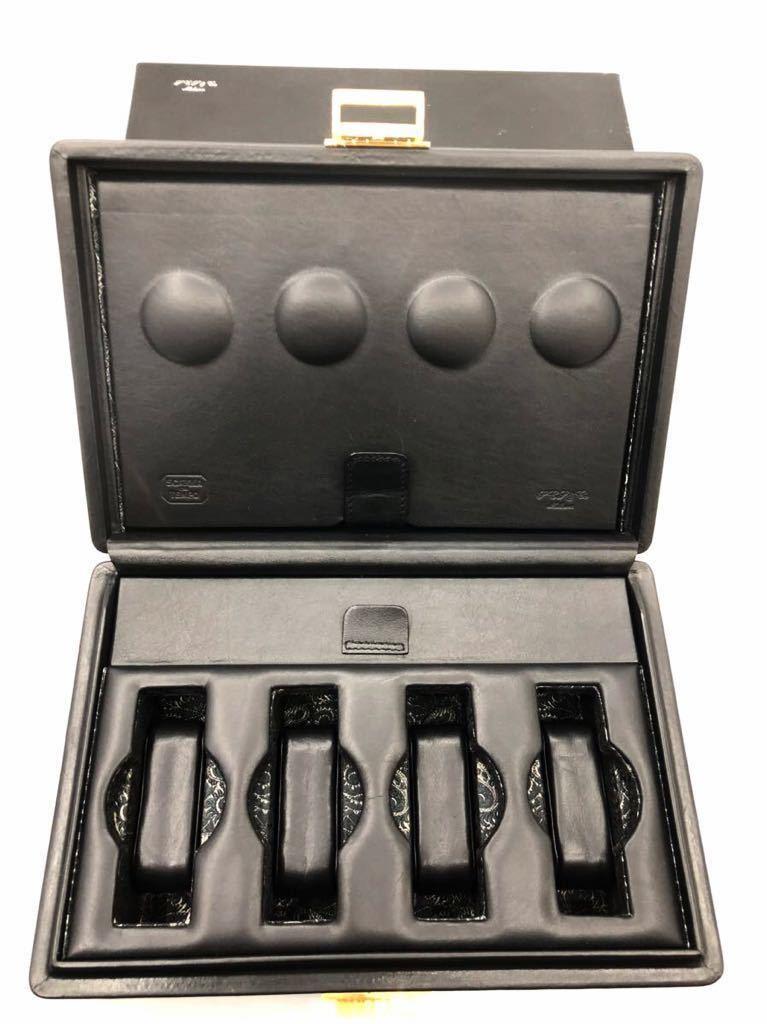 スカトラ・デル・テンポ 高級腕時計ケース 8本用 ブラック 極美品 SCATOLA del TEMPO ワインディングマシーン スカトーラデルテンポ_画像4