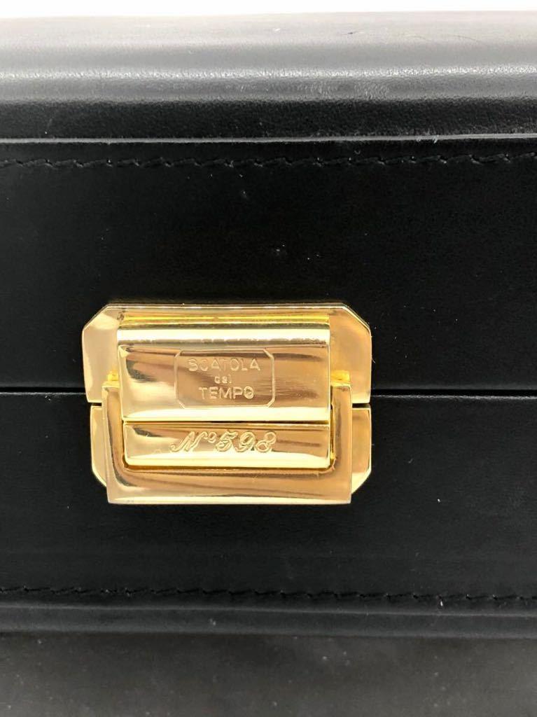 スカトラ・デル・テンポ 高級腕時計ケース 8本用 ブラック 極美品 SCATOLA del TEMPO ワインディングマシーン スカトーラデルテンポ_画像3
