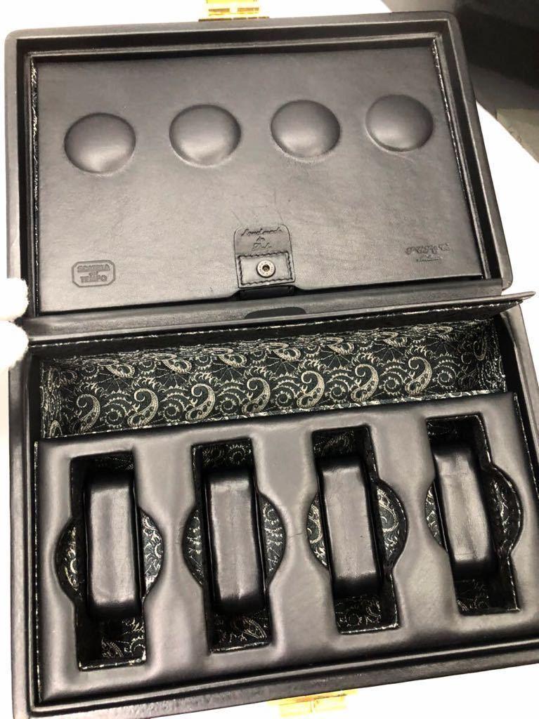 スカトラ・デル・テンポ 高級腕時計ケース 8本用 ブラック 極美品 SCATOLA del TEMPO ワインディングマシーン スカトーラデルテンポ_画像6