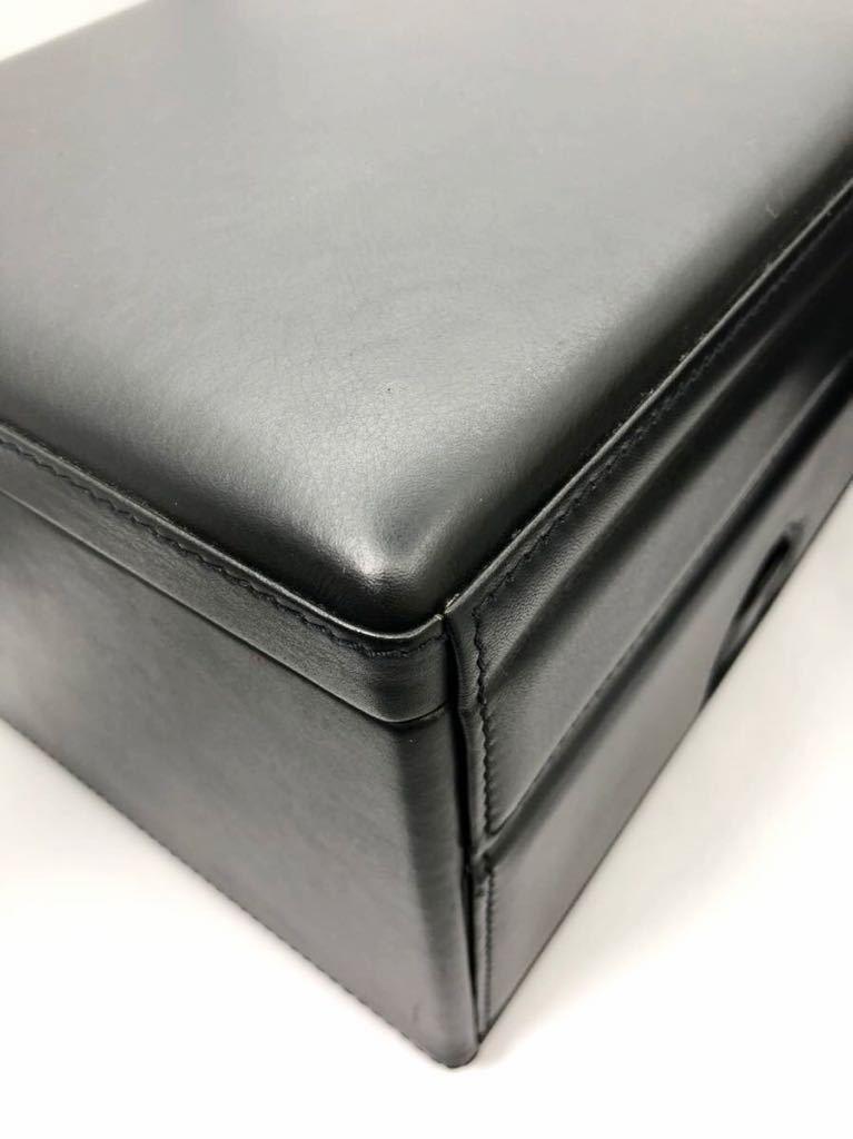 スカトラ・デル・テンポ 高級腕時計ケース ワインディングマシーン 7本用 ブラック 極美品 動作確認済み SCATOLA del TEMPO_画像9