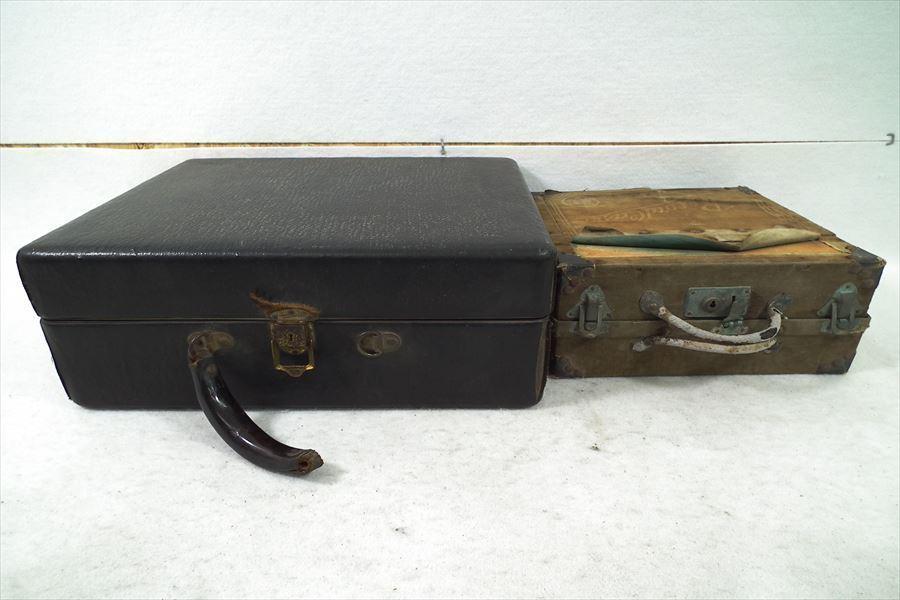 □ Victor ビクター VICTROLA ヴィクトローラ 蓄音機 SP盤34枚付属 音出し再生OK 中古 現状品 210206Y3455