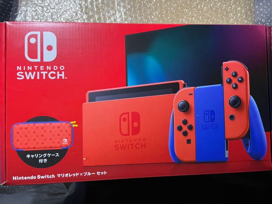 新品未使用 Nintendo Switch 本体 マリオレッド × ブルー 欠品無し