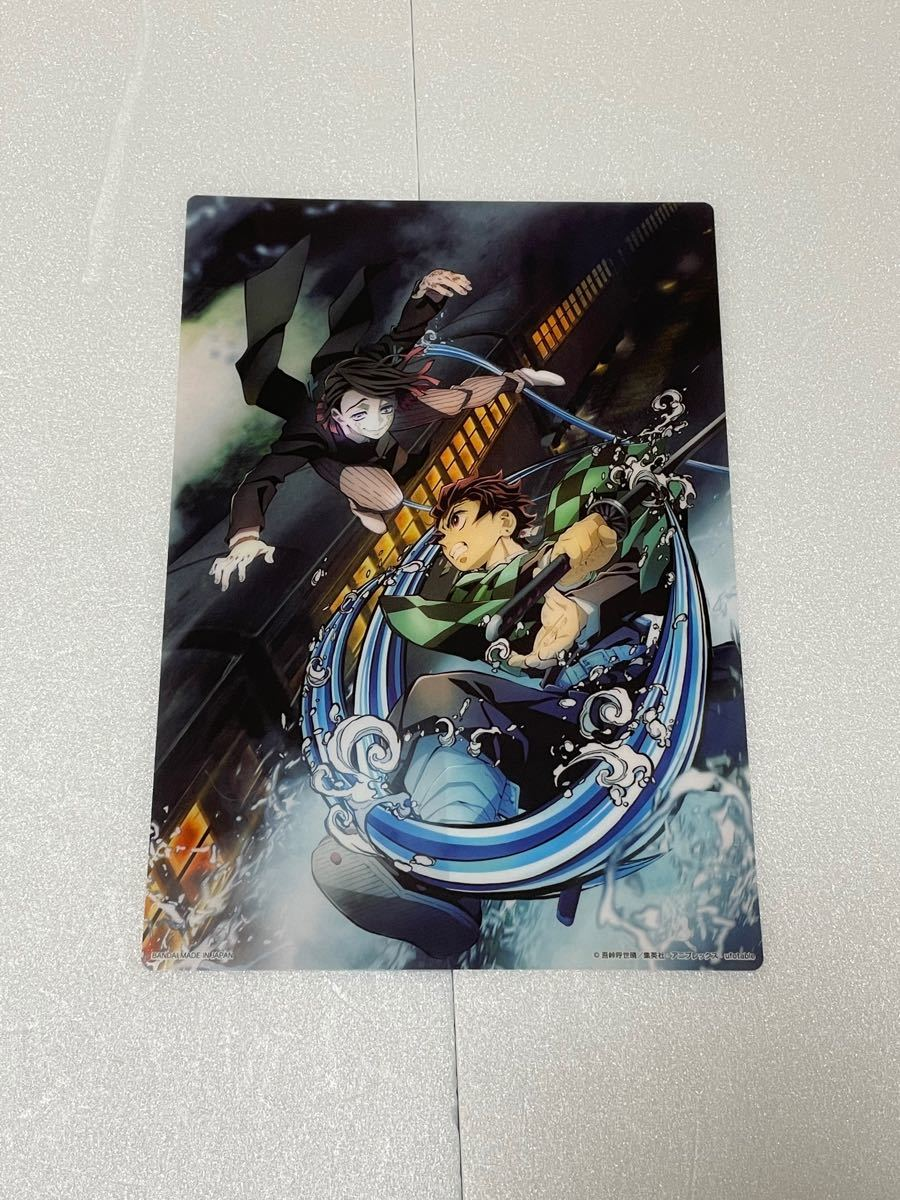 鬼滅の刃 ガチャ 無限列車編 クリアビジュアルポスター A5サイズ 4種セット!