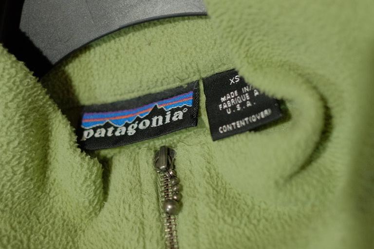送料無料 レア 90s USA製 パタゴニア ハーフジップ フリースジャケット グリーン M 検 R1
