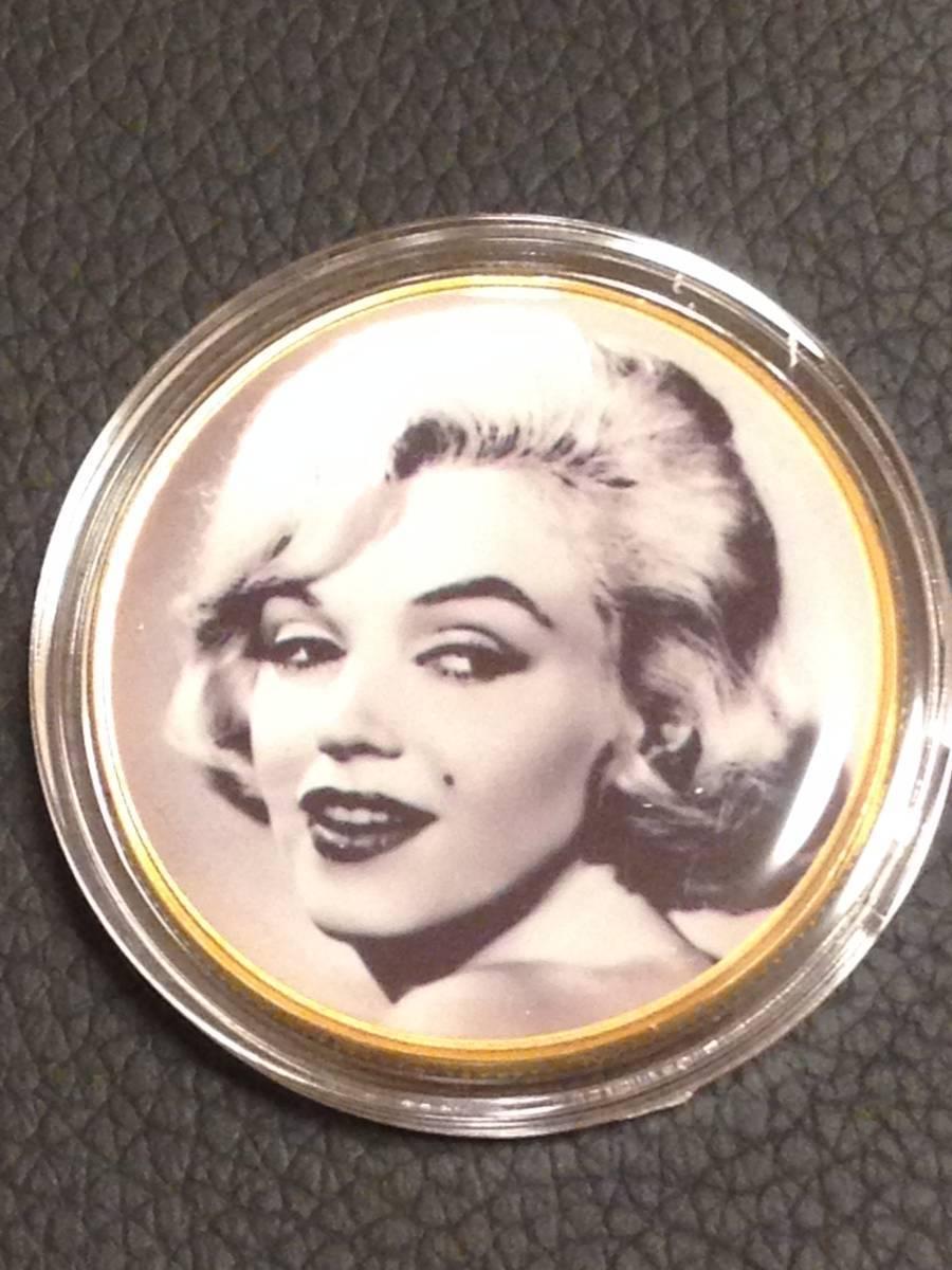 C61)海外丸形記念金貨、カラーコイン、メダル*アメリカスパースターマリリン・モンロー*参考品1枚 セクシー ノーマジーン_画像1