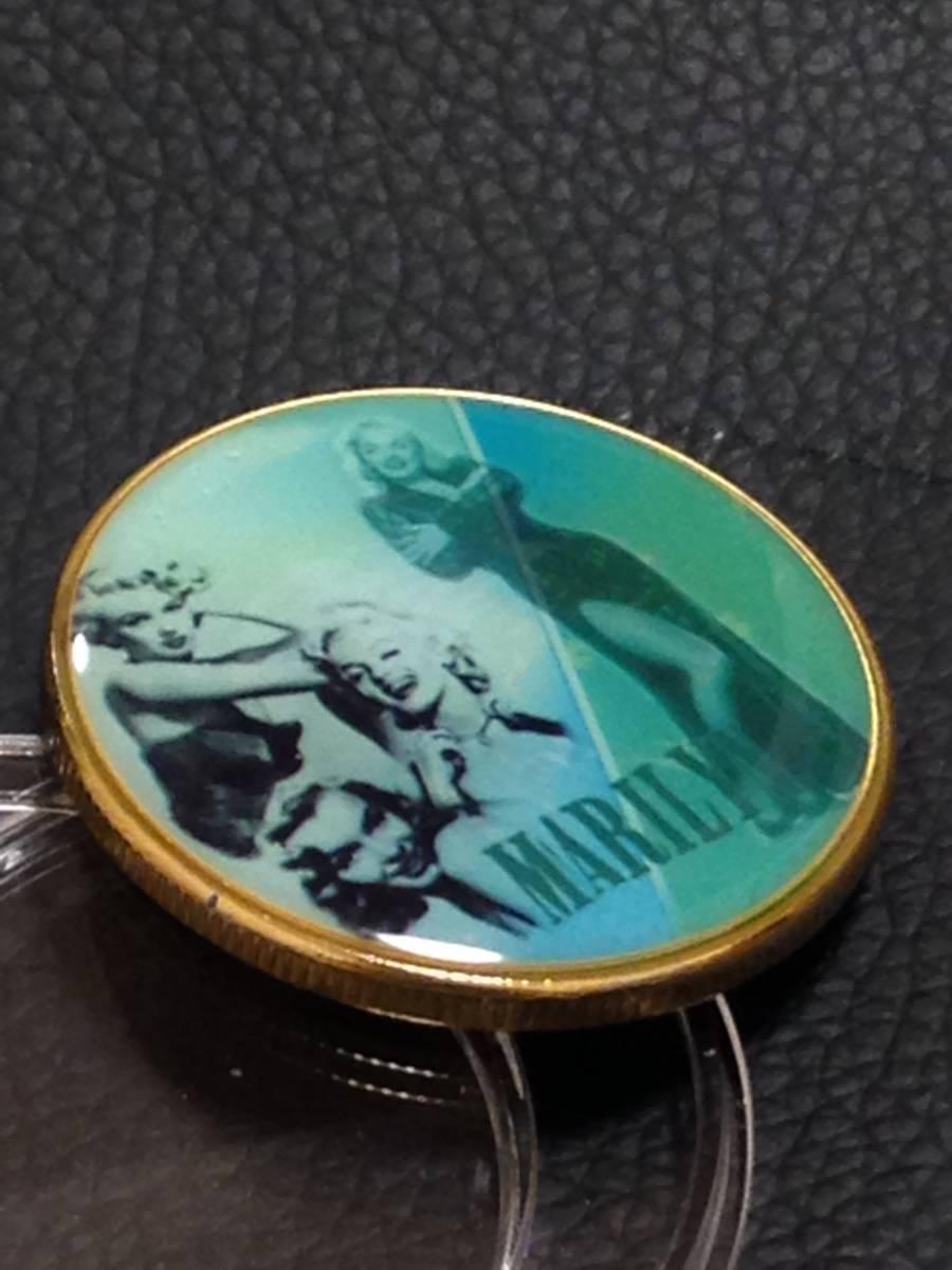 C45)海外丸形記念金貨、カラーコイン、メダル*アメリカスパースターマリリン・モンロー*参考品1枚 セクシー ノーマジーン_画像2