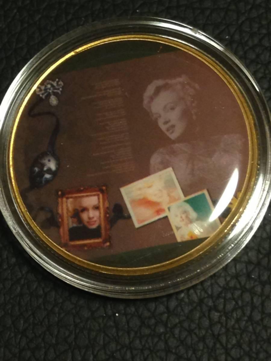 C17)海外丸形記念金貨、カラーコイン、メダル*アメリカスパースターマリリン・モンロー*参考品1枚 セクシー ノーマジーン_画像1