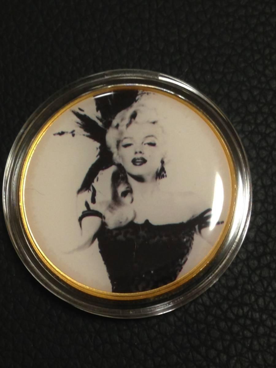 B95)海外丸形記念金貨、カラーコイン、メダル*アメリカスパースターマリリン・モンロー*参考品1枚 セクシー ノーマジーン_画像1