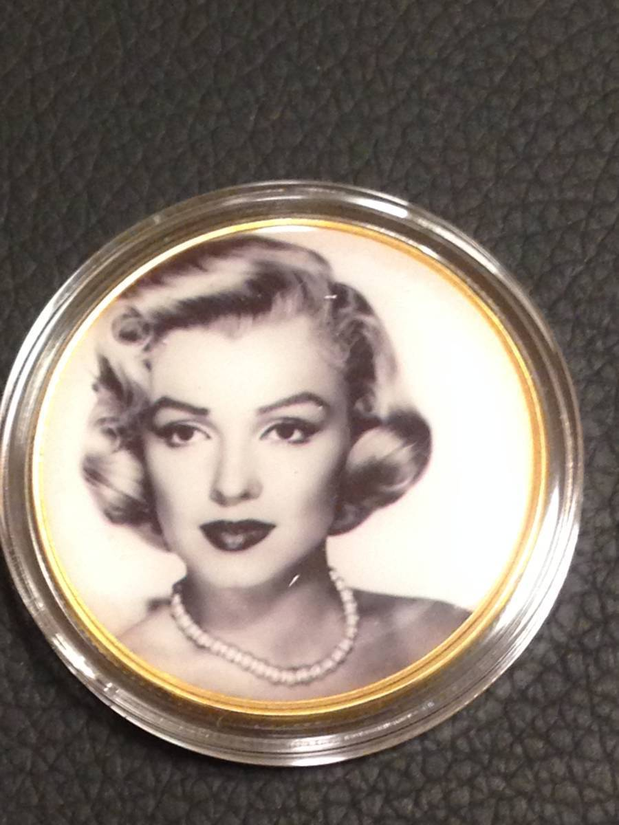 C81)海外丸形記念金貨、カラーコイン、メダル*アメリカスパースターマリリン・モンロー*参考品1枚 セクシー ノーマジーン_画像1