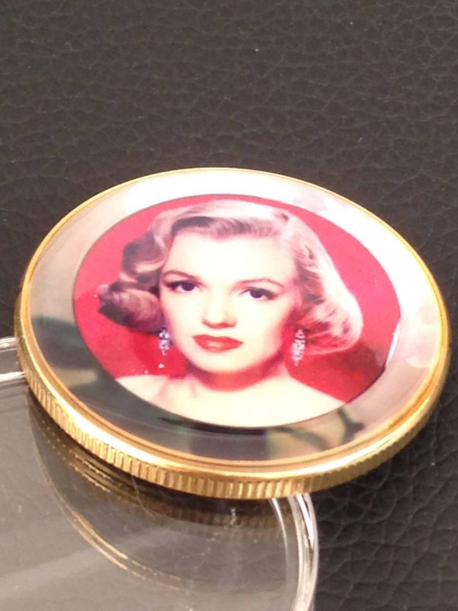 B41)海外丸形記念金貨、カラーコイン、メダル*アメリカスパースターマリリン・モンロー*参考品1枚 セクシー ノーマジーン_画像2