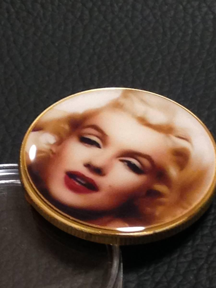 B51)海外丸形記念金貨、カラーコイン、メダル*アメリカスパースターマリリン・モンロー*参考品1枚 セクシー ノーマジーン_画像2