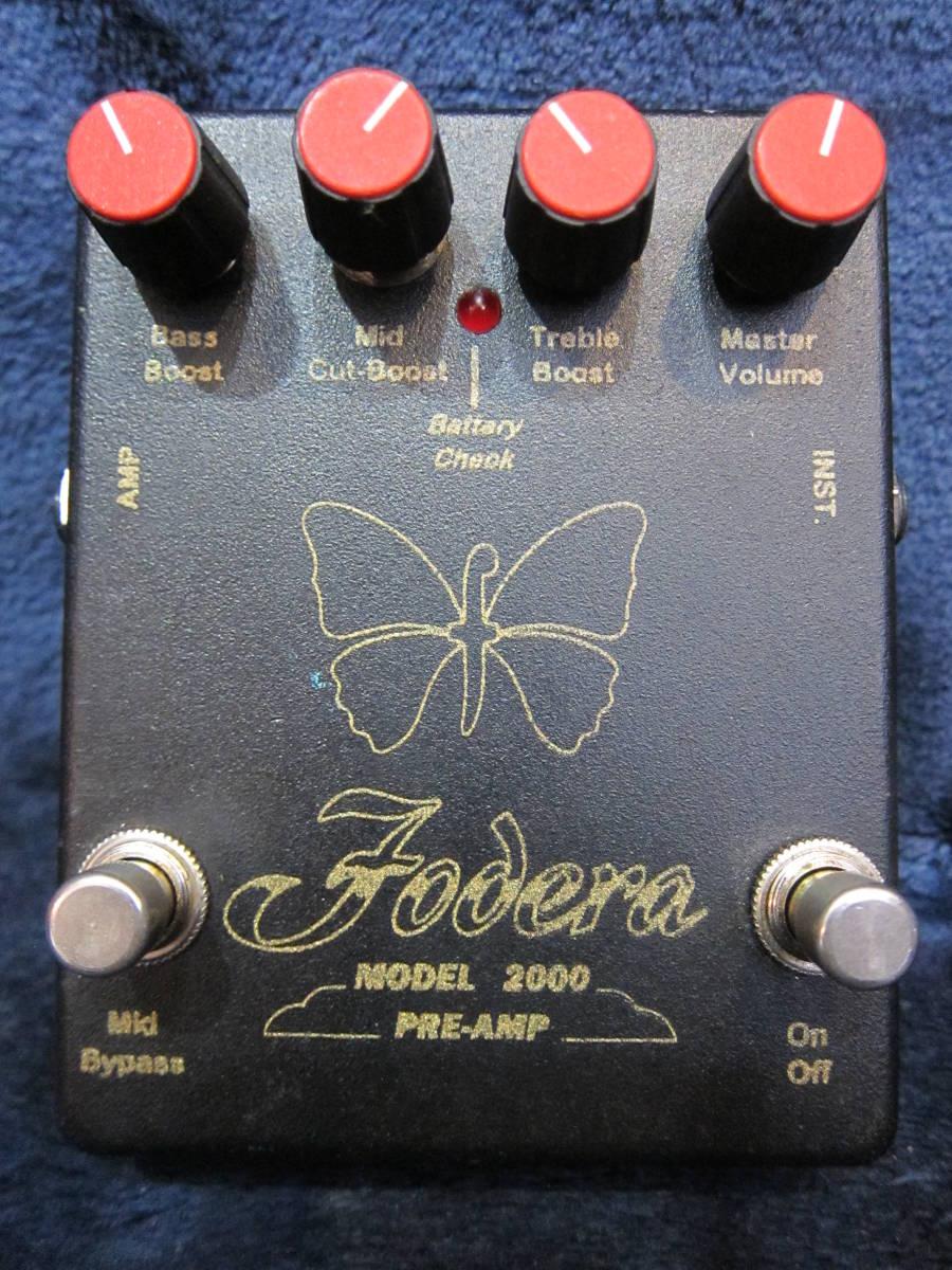 即決☆Fodera Model 2000 Pre-Amp☆稀少な初期型アウトボード・プリアンプ♪_画像1