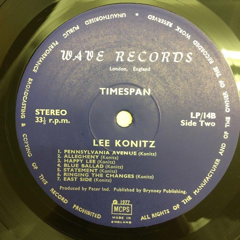 LP Lee Konitz / Timespan UKオリジ Wave LP14 未発表集 コーティング リー・コニッツ_画像4