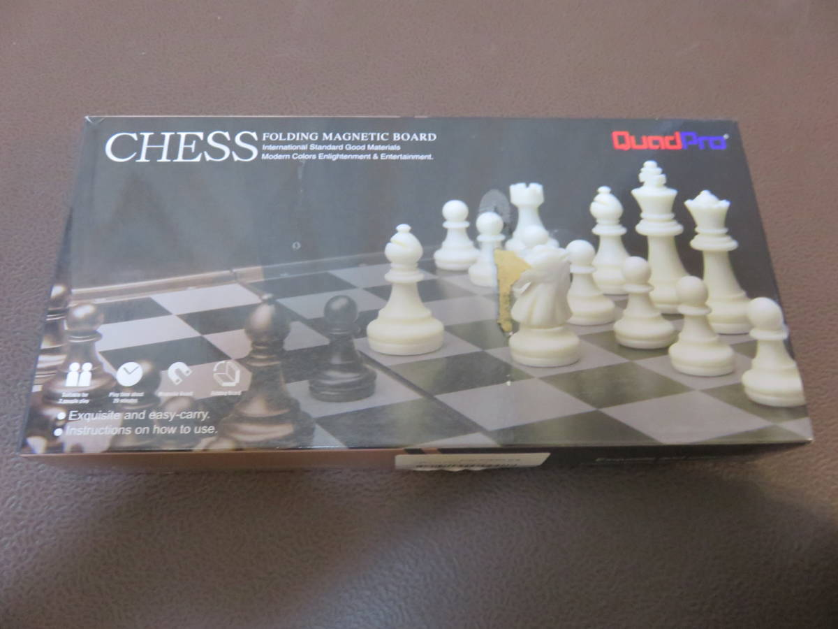 QuadPro 折りたたみチェス 未使用品_画像1
