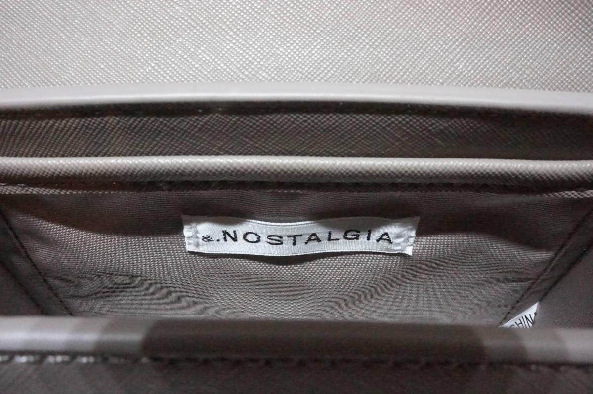 【L220-2A】&.NOSTALGIA ショルダーバッグ グレージュ タグ付き シンプル チェーン 未使用保管品_画像8