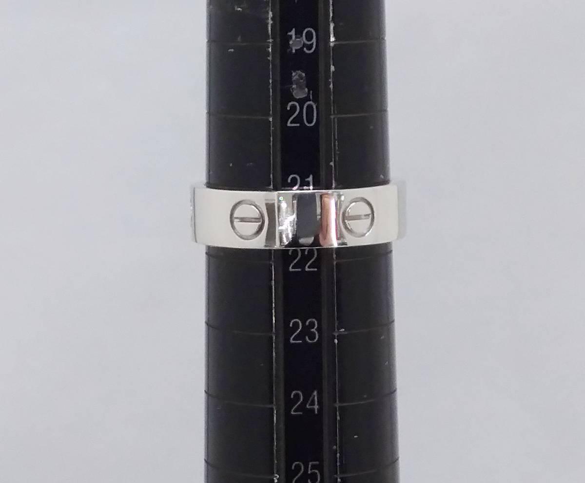Cartier カルティエ ラブリング K18WG #21.5 ブランドアクセサリー_画像6
