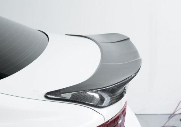 スバル・WRX VA系 STI/S4・VAB/VAG セダン カーボン リア トランクスポイラー TRタイプ(2014+)ウイング_画像3