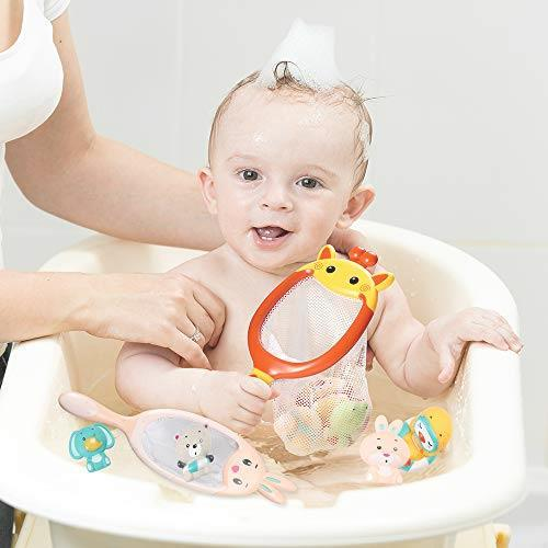 お風呂遊び ウサギ プールトイ 漁網2本 象 お風呂おもちゃ JoyGrow 水遊びおもちゃ 噴水 動物すくい カエル 音出す動物 シャワー _画像8