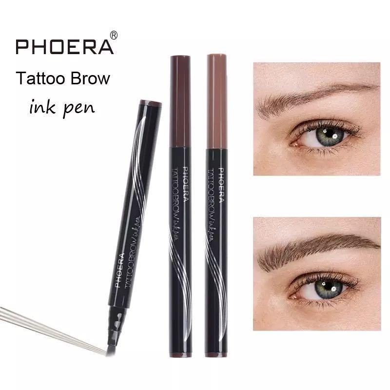 PHOERA 4tip tattoo インクペン 4枚羽 インクアイブロウ#1 ブロンド