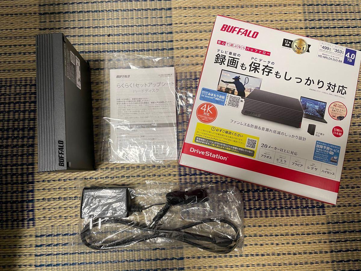 BUFFALO 外付けHDD 4TB (HD-NRLD4.0U3-BA)