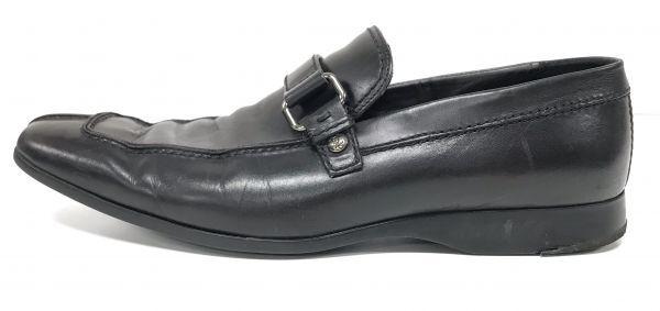 θLouis Vuitton/ルイヴィトン メンズ サイドバックルローファー 本革 スリッポン 革靴 ビジネスシューズ 黒 箱付属 S74566878683