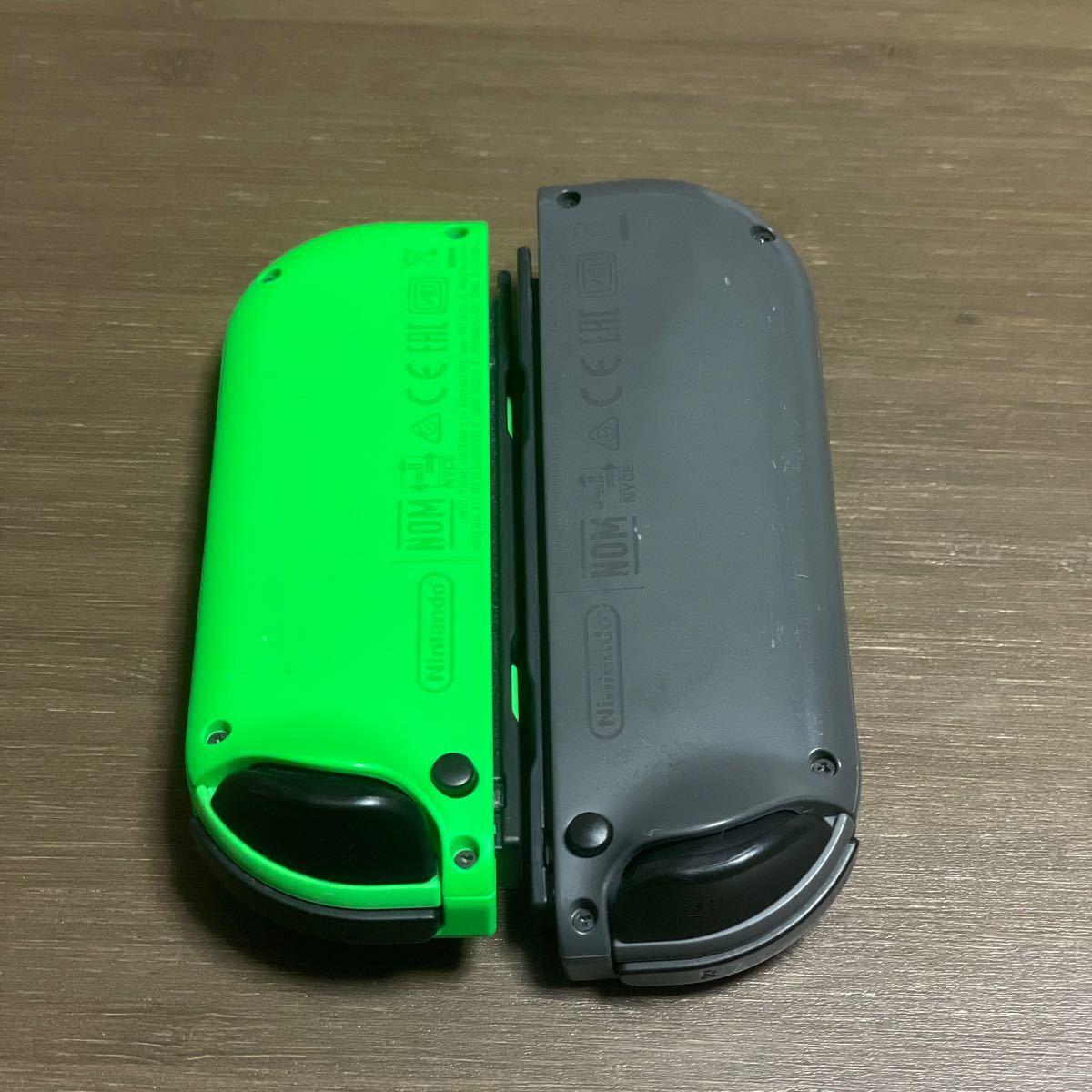 【動作確認済】Nintendo Switch Joy-Con ジョイコン ネオングリーン(L) グレー(R)