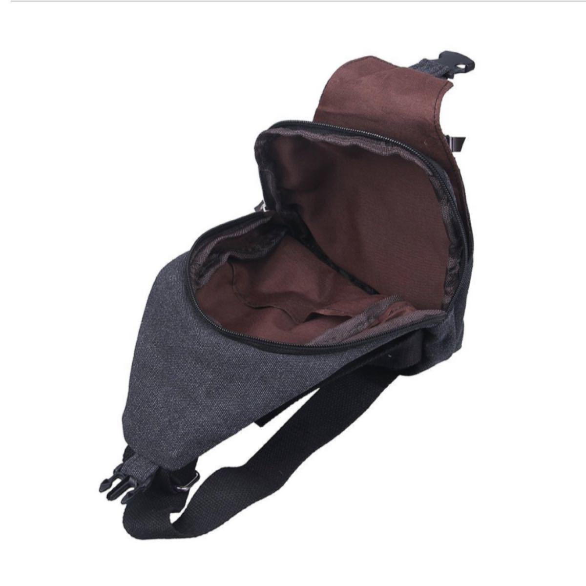 メンズ ショルダーバッグ ブラック シンプル 斜めがけ 肩掛け ボディバッグ 軽量 人気 送料込 即購入OK