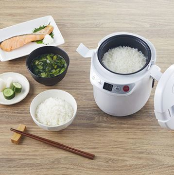 新品未開封 アルコレ ミニライスクッカー 炊飯器 1.5合炊き 発酵モード付き ホワイト ARC-T105/W
