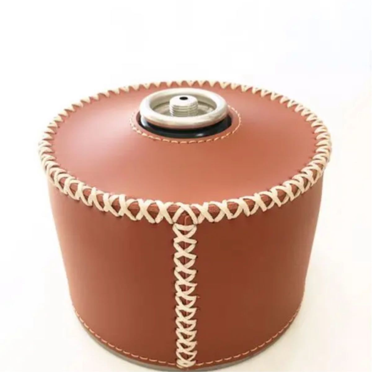 od缶 レザーカバー 【1個】ブラウン ソロキャンプ コールマン ルミエールランタン OD缶 ガス缶