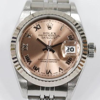 1円 ロレックス オイスターパーペチュアル デイトジャスト 自動巻 腕時計 レディース SS×WG 稼働品 69174 ROLEX