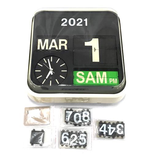 1円 FARTECH クォーツ オートカレンダー フリップクロック パタパタ時計 掛け時計 ファーテック