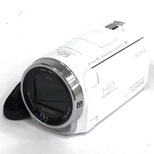 1円 SONY HDR-CX675 Handycam HD デジタルビデオカメラ ホワイト ハンディカム 動作確認済み ソニー