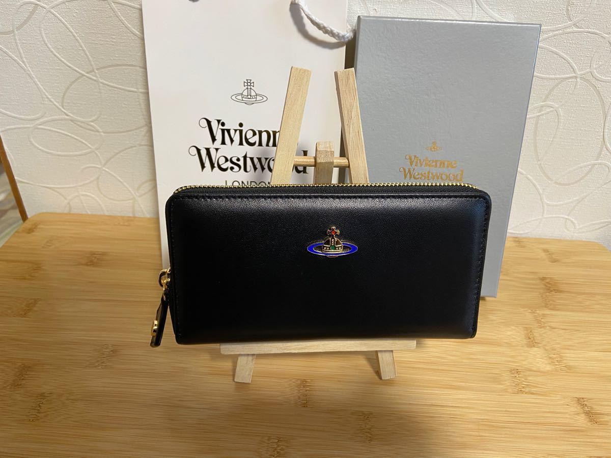 Vivienne Westwood 長財布 ヴィヴィアンウエストウッド 黒 長財布レディース