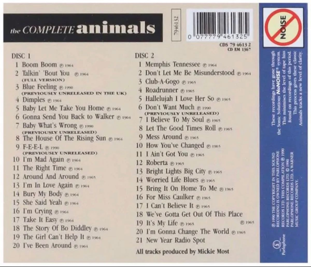 【輸入盤】The Animals(アニマルズ)/ The Complete Animals[2枚組CD]