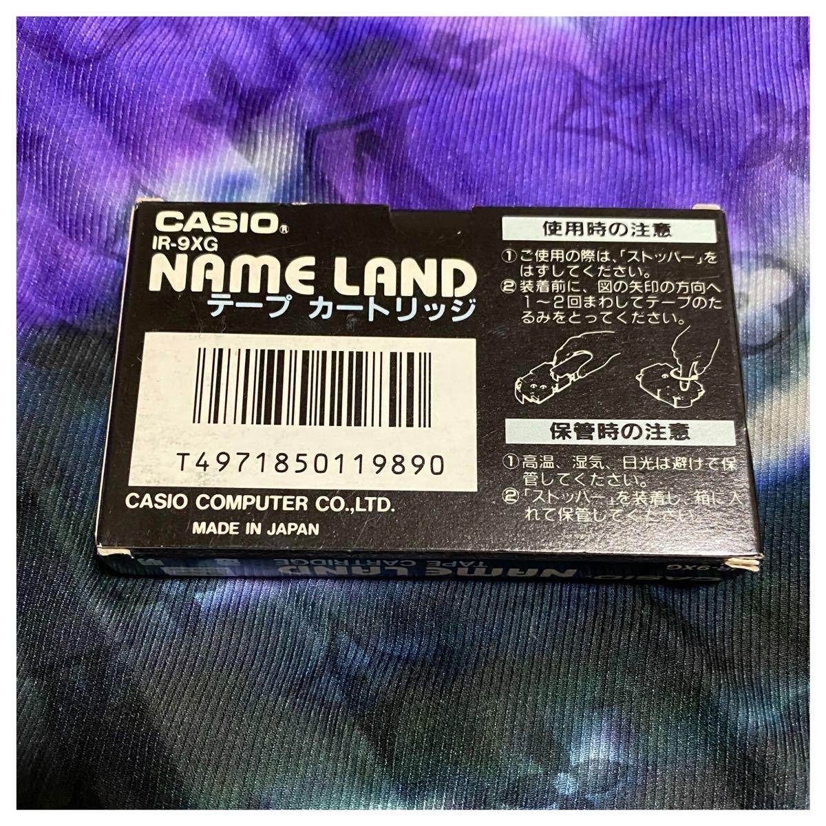 CASIO純正 ネームランド 透明×ゴールド色 カートリッジ テープ 9mm カシオネームランドテープ