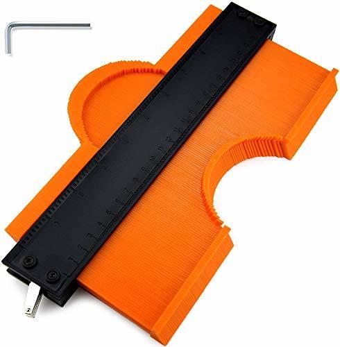 【新品未使用】型取りゲージ 高精度 セルフロック付き 木工 GESPERT ABS目盛付き コンターゲージ ストッパー付 幅広 DIY用測定工具 測_画像1