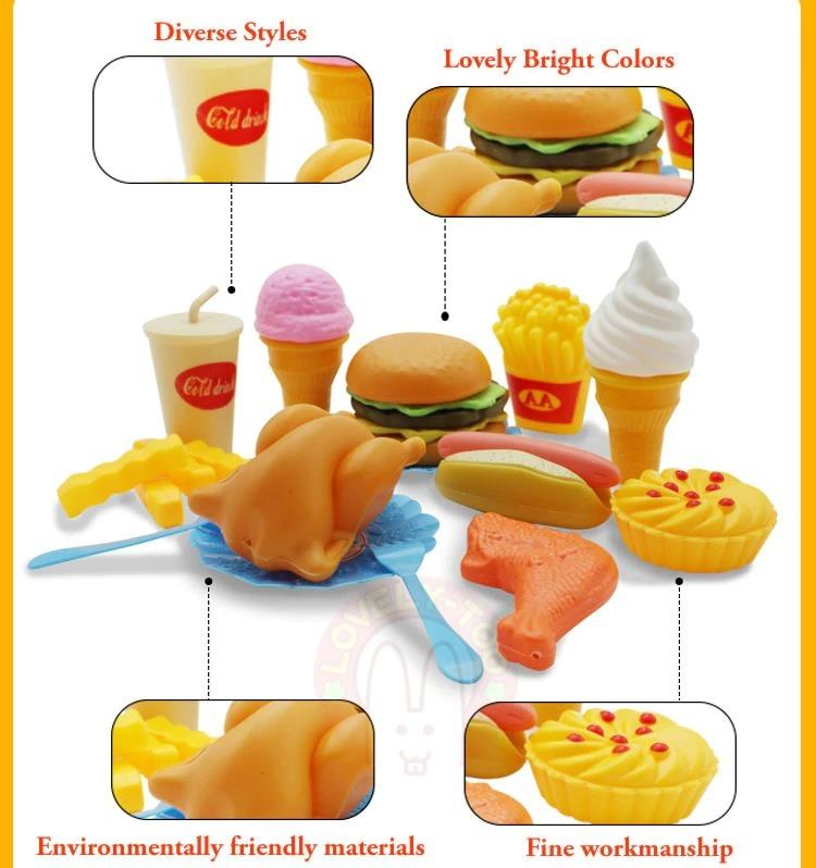 おままごと 子ども 男の子 女の子 おもちゃ キッチン ハンバーガー プレゼント ab1392_画像3